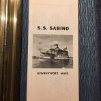SS Sabino Advertisement flyer from Newbury Mass.