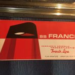 French Line: SS France Mini Red Deck Plan
