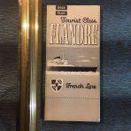 French Line: SS Flandre Tourist Deck Plan
