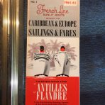French Line: SS Antilles & Flandre Sisters of the Caribbean Cruises Folder #3