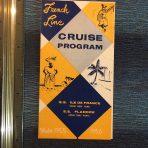 French Line: Mini 55/56 Cruise Program Flyer