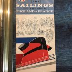 French Line: 1963 Sailings folder.