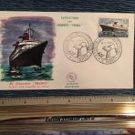 French Line: First day cover for the France dated 12-1-1962