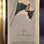 HAPAG: Deutschland Passenger list dated August 1935.