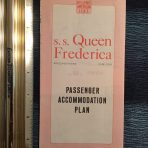 National Hellenic American Line: Queen Frederica pink deck plans