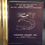 "Flagship Cruises: SS Sea Venture unusual ""blueprint"" Deck Plans"