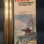 French Line: SS France 1974 Great European Vacations folder.