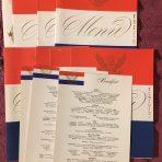 United States Lines: April 1956 Menu set