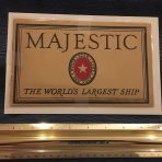 White Star Line: RMS Majestic Small Brown Brochure