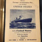 United States Lines: Early Miniature Deck Plan