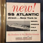 American Export Lines: New SS Atlantic  Large DP and Interiors fold out