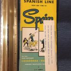 Spanish Line: 1960 folder for the Covadonga and Guadalupe