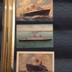 United States Lines: 3 SS America Postcards