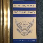 United States Lines: SS United States Gin Rummy Scorepad