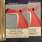 Carnival: Carnival Victory Caper papers September 4 and 5  1995