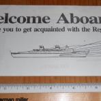 Regency Cruises: Regent Sea Welcome aboard deck plan print