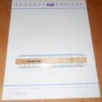 Regency Cruises: Regent Sea: Regent Star: Regent Sun Stationery Sheet
