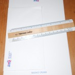 Regency Cruises: Regent Sea Cabin Stationery sheets and envelope