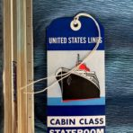 United States Lines: SSUS Blue Cabin Class Baggage tag