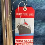 United States Lines: SSUS Red FC Baggage Tag