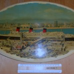 Cunard Line: Hotel Queen Mary Plaque: