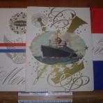 United States Lines! SS America 3 dinner menus!
