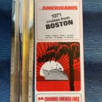 Chandris: Amerikanis Cruises form Boston 1971 Folder