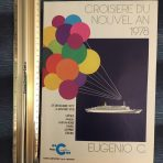 Costa Line: 1978 Eugenio C New Year's Eve Cruise Brochure in French