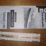 Cunard Line; QE DecK Plan 1956 CC  MM17