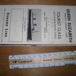 Cunard Line: QE Deckplan 1956 TC MM17