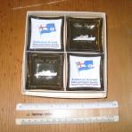 American Export Lines: SS Atlantic ash/pin tray 4 pack.