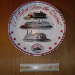 "The Delta Queen Steamboat Company: ""save the queens"" plate"