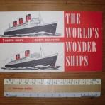Cunard Line: QE/ QM mini Wonder ships booklet: Restocked!