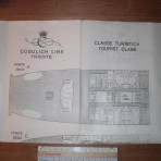 Consulich Line Vulcania: Tourist class tissue deckplan MM17