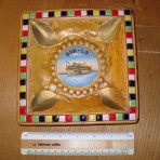 Bob Lo Line: Souvenir dish for Steamers Ste Claire and Columbia: