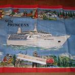 Princess Cruise Lines: Sun Princess Irish Linen Souvenir Towel