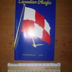 Canadian Pacific: Empress of Austraila passenger list