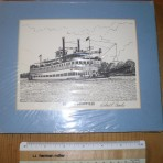 SS Belle of Lousiville matted Print