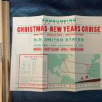 """United States Lines: SS US  The Last Christmas New Years Cruise """"that didn't happen"""" rate sheet"""