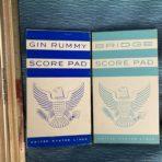 United States Lines: SSUS Gin and Bridge Scorepads